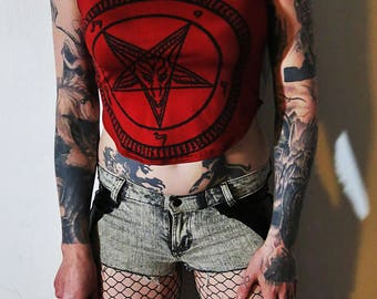 Hell Couture Red Pentagram Tank Top