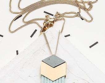 Carlton Necklace, Geometric Statement Necklace, Scandinavian Design