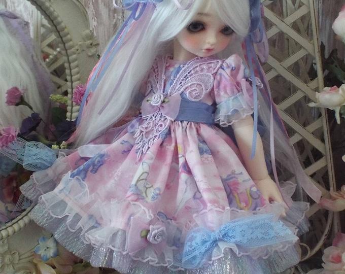Lilac Unicorn for 1/4 BJD Dolls Volks MSD Kaye Wiggs Rosenlied Holiday Myou Big Baby
