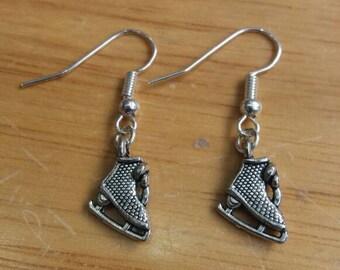 Ice skate earrings - ice skater earrings