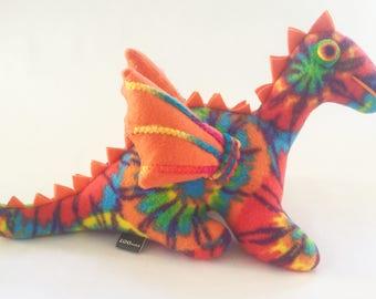 Orange Tie Dye Dragon