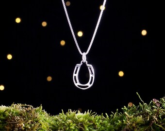 Sterling Silver Lucky Horseshoe - (Charm, Necklace, or Earrings)