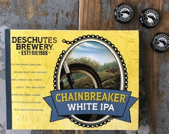 Recycled Six Pack Notebook Deschutes Brewery Chainbreaker White IPA