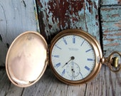 RESERVED LOSTING for jboyden51...Antique Hamilton Pocket Watch - Vintage Hamilton Pocket Watch - Hunter Case Pocket Watch