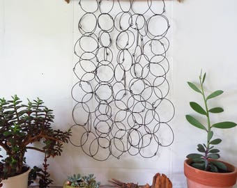 Wire Circles Wall Hanging Sculpture
