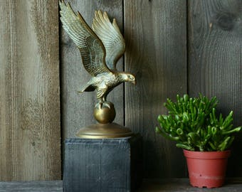 Vintage Bronze Eagle On World Mounted On Wood American Eagle Independance Day 4th Of July Vintage From Nowvintage on Etsy