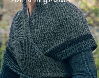 PDF Knitting Pattern Claire's Rent Shawl Outlander-Replica Triangle Shawl