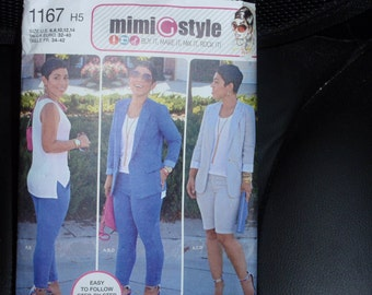 Simplicity 1167 Jacket, Slim Pants or Shorts and Knit Tank Top Pattern Mimi G Style Size 6 - 14