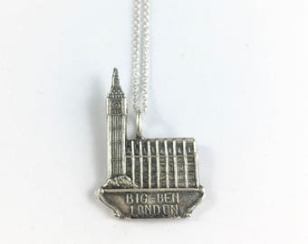 Big Ben Clock, London Necklace, London Charm, London Jewelry, London Charm, London Gift, London Woman Gift, Ben Ben Charm, Wife Gift