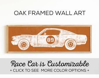 Vintage Race Car Print - Perfect for Boys Room Wall Art - Car Design #2