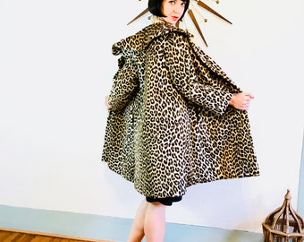 60s Leopard Coat, KILIMANJARO coat, Leopard print coat, Vintage 1960s leopard coat, Cheetah fur coat, leopard print jacket, faux leopard fur