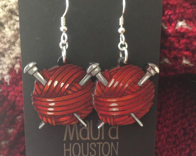 Ball of Yarn Earrings