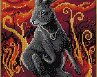 The Witch Hare Cross Stitch / colourwork chart