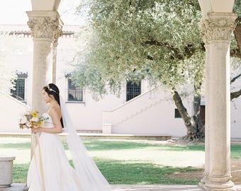 Bridal Veil, Cathedral Veil, Wedding Veil, Long Veil, Ivory Veil, White Wedding Veil, Ivory Wedding Veil, Tulle Veil- Style 304