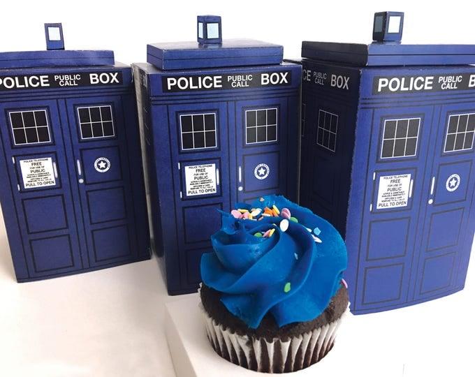 Tardis Favor Box - Police Telephone Box, Doctor Who Tardis Party Favor Box | Instant Download DIY Printable PDF Kit