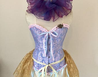 Multi way gold lace Bustle, neck ruff, cape, other colours.