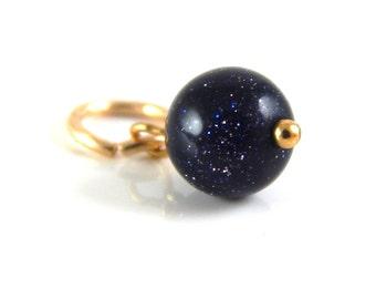 Navy Blue Charm ~ add a charm ~ add a dangle -  Midnight Sparkle Charm ~ AdoniaJewelry