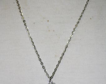 Crescent moon   with glass tear Necklace