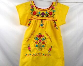 Sweet Boho Oaxaca Girl's Embroidered Dress