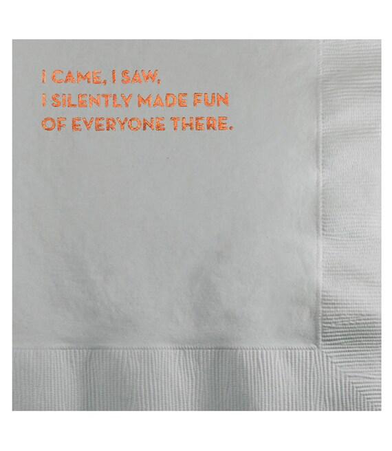 i came, i saw napkins. #585