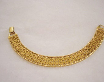 Monet Gold Tone Chain Link Bracelet