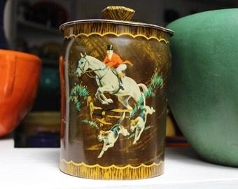 George Horner Tin England Hunting Dogs Horse Huntsman Rare VINTAGE by Plantdreaming