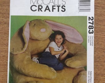 "Sewing Pattern ~ McCall's 2783 ~ 30"" Giant Bunny Chair"