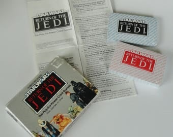 Vintage 1983 STAR WARS Card Game - Return of the Jedi - 80s Collectible, Scrap booking Card Making Art Craft Supply, Parker Bros, Game Night