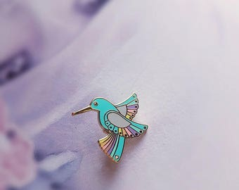 Blue Hummingbird - Hard Enamel Pin