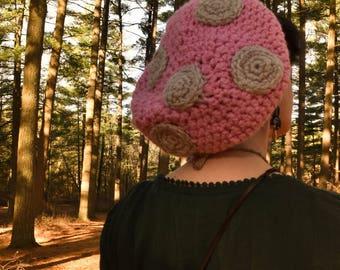 Pink Mushroom Cap - READY TO SHIP