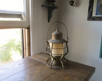 "Antique ""Converted to Electric"" The Adams & Westlake Co ""THE ADAMS"" Railroad LANTERN w/Patent Dates Around Edge 1880's ~ Oregon Short Line?"