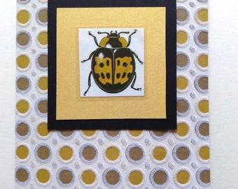yellow ladybug card