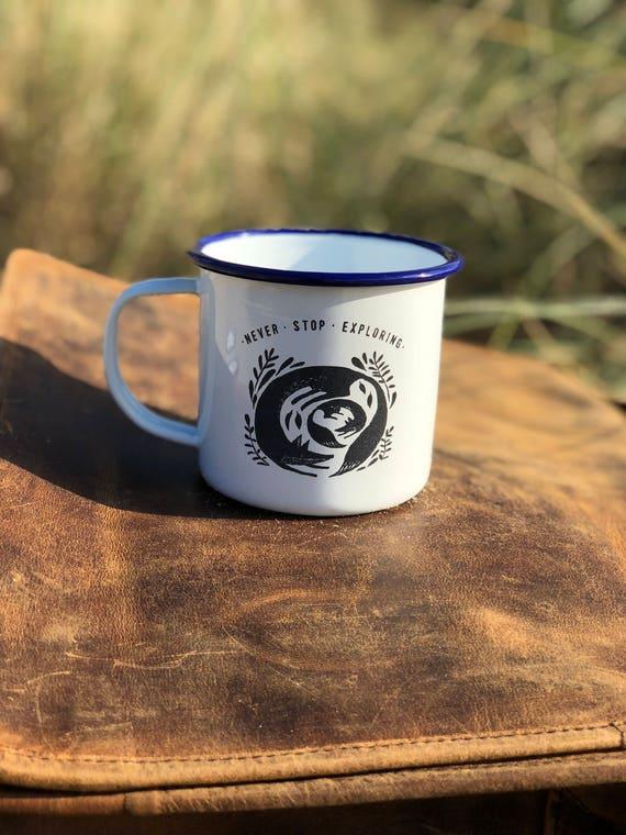 Fox & Cub 2017 - Etched Enamel Mug