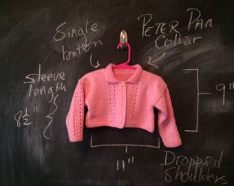 Girl's Pink Bolero