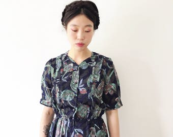 RESERVED for C. - REINA, Japanese vintage dress, small - medium