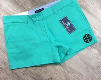 Mint Green Shorts Simply Southern Monogrammed Shorts Personalized Shorts Summer Shorts Beach Wear Vacation