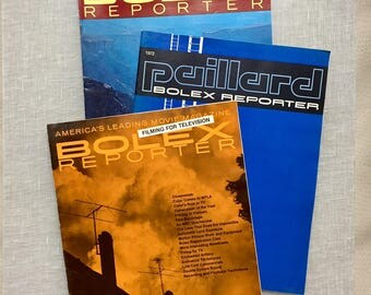 Bolex Reporter 3 Issues 1970 1972 Plus Special Filming for Television Issue Paillard -  Camera Movie Making TV Hollywood Video Bolex
