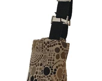 Brown Circles Crossbody Flat Bag