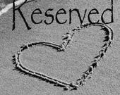 Reserved- Custom Beach theme photo, romantic Beach Heart in the Sand with wedding vows, 5x7 Black and White Photo, heart art, beach wedding