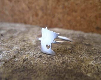 Any State Love Ring - The Original - Personalized State Ring