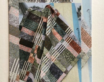 "Stringers quilt pattern - beyond the reef - 3 sizes: table runner 15"" x 52"", lap quilt 60"" x 65"", larger lap quilt 75"" x 91"