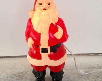 Vintage Santa Lighted Blow Mold by Empire - Old Version