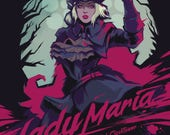 LADY MARIA of the Astral Clocktower Video Game Art Poster