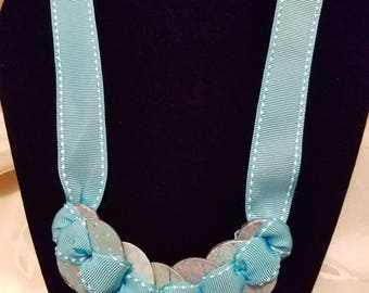 Washer Necklace, Teal