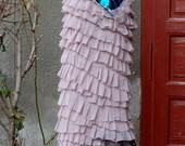 Skirt,bridal skirt, faerie, Marie Antoinette,dusty pink skirt, ruffle skirt,long skirt, vintage style, romance,shabby chic,wedding , love