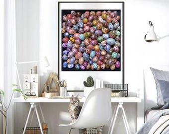 Wall Art Poster, Pysanky egg art, Ukrainian Easter Eggs, Ukrainian art, easter eggs pysanky poster, XL poster of pysanky eggs