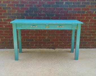 Farmhouse writing Desk Handmade for Home office teacher or Work Table limited shipping included