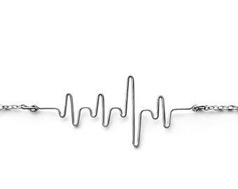 Heartbeat Necklace, Nursing Graduation, Nursing School, BSN Gift for Nurse, RN Grad Gift, Ekg Necklace, Heart Beat Necklace, Gift for Doctor