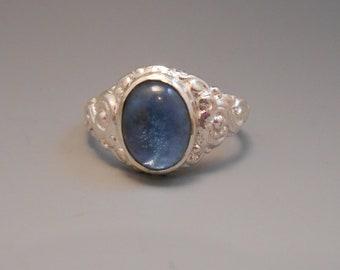 Topaz Recycled London Blue Genuine Topaz Gemstone Sterling Silver Ring December Birthstone
