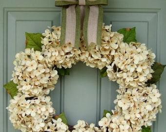 Summer Wreath - Summer Hyrangea Wreath - Wreath for Summer